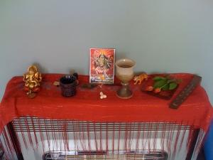 Hindu altar, week 3