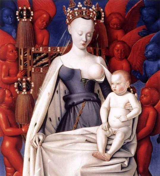Madonna lactans, Jean Fouquet