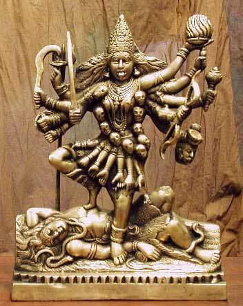 Kali and Shiva. I found this beautiful murti posted at anglohindu.wordpress.com