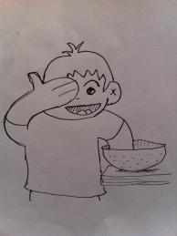 Adam drew a cartoon of our process.