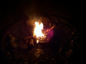 Fire, made by my son and Adam
